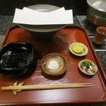 天雅 - 天ぷらの準備です。