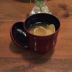 33144093 - おまかせA(すし付) ¥2700                         あさりのお味噌汁