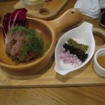 貝殻荘 - 鮪ほほ肉のタルタル