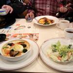 ガスト 生駒鹿の台東店 - 彩り野菜のとろーり温玉ドリア 599円