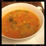 ビストロ シェ リキ - 野菜のスープ  ゴロゴロ野菜たくさんです