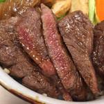 33157060 - ステーキ牛丼 特上(国産牛)