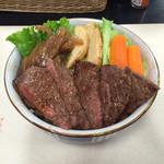 33157062 - ステーキ牛丼 特上(国産牛)