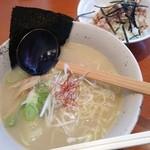 TORISOBA 雄 - 鶏そば+ミニ鶏コマ丼2014.12