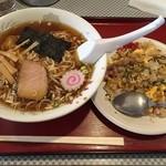 ときわ屋 - 料理写真:ラーメンセット B* (780円) *ラーメン + 半チャーハン