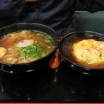 餃子の王将 空港線豊中店 - 醤油ラーメンと天津飯のセット