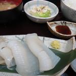 市場亭 - イカ刺し定食