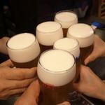 ラ グリュ - 生ビールでかんぱ~~い!