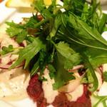 アガリコタラート - 馬肉のカルパッチョ パクチー添え