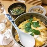 なか屋 - たまご丼とゴボウ(^o^)/