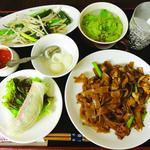 太麺のしょう油炒めランチ 金曜日のみ