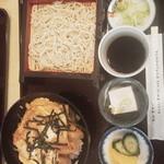 まこと家 - 蕎麦カツ丼セット