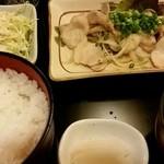 浜市 - 豚バラ葱塩焼き定食(ご飯大盛り)