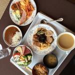 buffedainingushefuzureshipi - 2014年12月の朝食の全貌。超満腹。