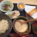 お抹茶 こんどう - ほんやま自然薯のとろろ汁定食!!