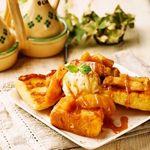 トラベルカフェ - フレンチトースト(マスカルポーネはちみつ、チョコバニラ、キャラメルアップル)