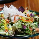 香味野菜とあぐーの冷しゃぶサラダ