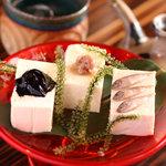 島豆腐の珍味3種もり