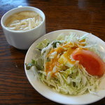 シド亭 - 100226 ランチのサラダと味噌汁