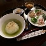 33191154 - 鯛だし茶漬け(ミニ葛餅付)1100円