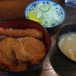 とんかつ 中堀 - カツエビ盛り合わせ丼 700円