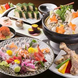 毎日届く新鮮な瀬戸内魚介を使った宴会料理コースが味わえます。