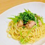 アーキテクトカフェ - チキンと水菜のバター醤油パスタ