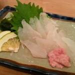 あお - カワハギの刺し身(750円)