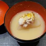 Ginzayoshizawa - 白子と聖護院大根の白味噌椀
