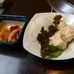 農園レストラン みやもとファーム - ランチのサラダ