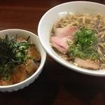 らーめん香澄 阿波座本店 - 煮干ラーメン(750円)+チャーシュー丼<小>(250円)