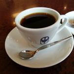 珈琲専門店 原点 - ホットコーヒーです(2014年10月)。