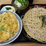 所亭 - 2012年7月 親子丼、ざるそば