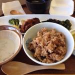 美しい空 - さつま汁と発芽玄米(寝かせ玄米)のコラボ