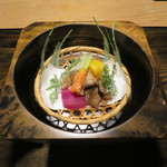 御料理 光安 - 季節野菜の箱盛