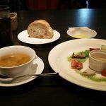 33209990 - 前菜・パン付き ソフトドリンクとスープは飲み放題