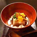 土家 - 蕎麦豆腐の胡麻餡かけ (2014/11)