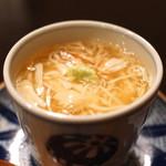 土家 - 小蕪と毛蟹の茶碗蒸し (2014/11)