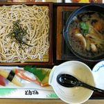 和食レストランとんでん - 鴨せいろとにぎり鮨(1,490円)