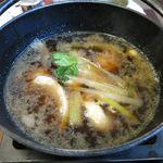 和食レストランとんでん - 鴨汁のアップ