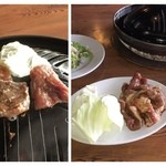 ジンギスカン料理 ろうかく荘 - サホーク定食 昨日旨すぎたため別の店に訪問。本当に美味しい。
