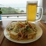 せーふぁキッチン - 料理写真:チャンプルとオリオンと海