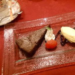 シシリアンルージュ札幌 - トマトのガトーショコラケーキセット