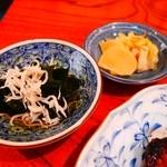 纏寿司 - 小鉢・漬物