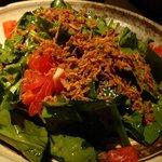 石庵 - ほうれん草のサラダ