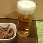 ゆうかり - 生ビール+お通し