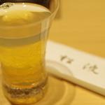 鮨松波 - 鮑蒸し汁