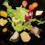 33236874 - 北海道神内和牛あか極み部位4種食べ比べコース(前菜盛り合わせ)