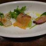 ユーロバル マテーラ - ちょい呑みセット:オススメ前菜3種盛合せ