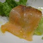 ユーロバル マテーラ - ちょい呑みセット:オススメ前菜3種盛合せ・スモークサーモン